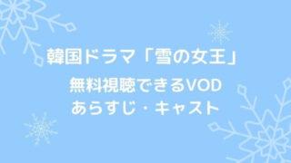 韓国ドラマ「雪の女王」無料視聴できるVOD、あらすじ・キャスト
