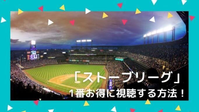 「ストーブリーグ」を1番お得に視聴する方法!